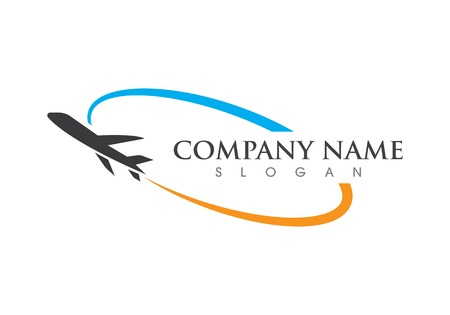 plane ilustration logo vector icon template Stock Illustratie
