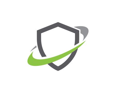 Shield symbol logo template vector illustration design Stock Illustratie