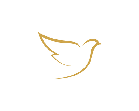 Bird wing Dove Logo Template vector illustration Ilustrace