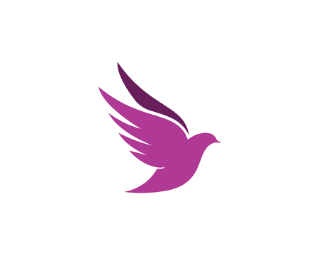 Bird wing Dove Logo Template vector illustration Illustration