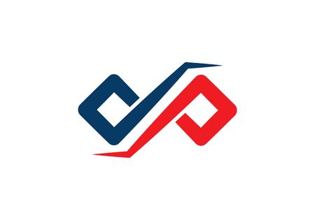 DP letter ,Infinity logo template Ilustração