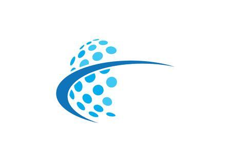 Globe logo vector template Logo
