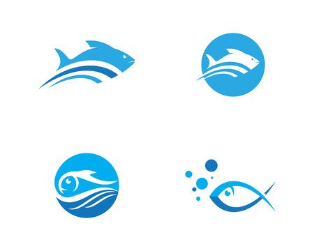 Fish logo template Creative vector icon symbol