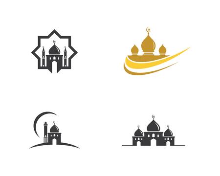 Moslem icon  Illustration design template 向量圖像