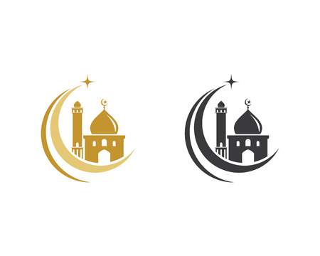 Moslem icon vector Illustration design template