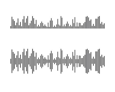 Sound waves vector icon illustration design template