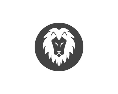 Lion  Template  icon illustration design