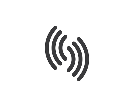 diseño de ilustración de icono de plantilla inalámbrica