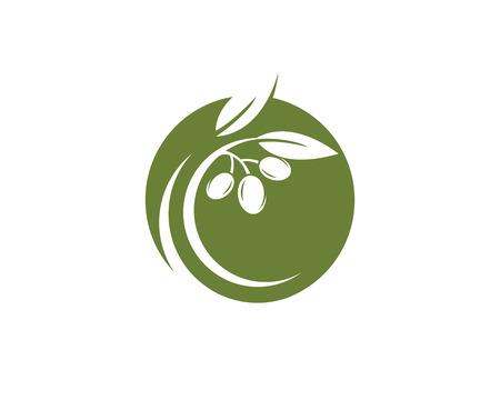 Olive logo template vector icon illustration design Logo