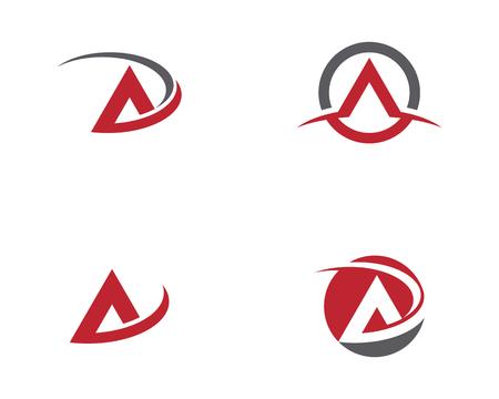 A Letter  icon illustration design