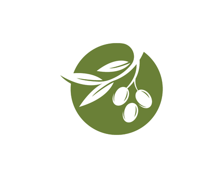Conception d'illustration icône olive Vecteurs