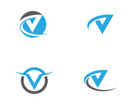Ilustración de icono de plantilla de letra V