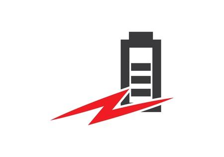 Plantilla de icono de batería de energía