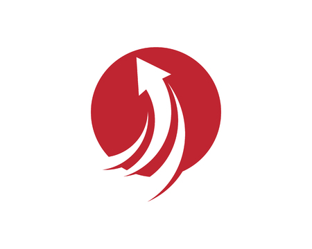 Arrow illustration icon Logo Template design