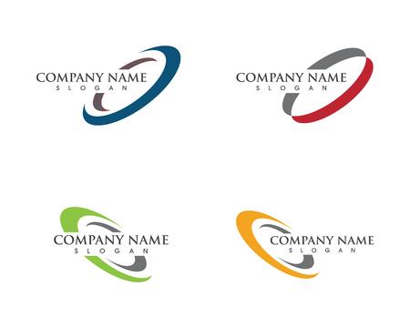 Icône d'illustration de cercle Création de modèle de logo