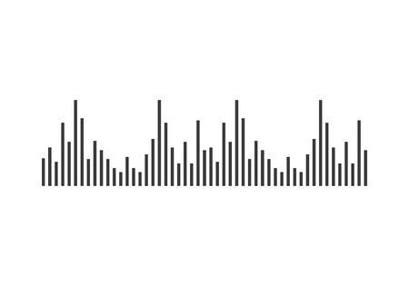 Audio technology, music sound waves icon illustration