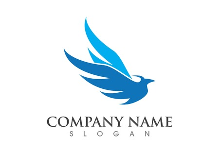 Wing bird Logo Template vector icon design Illustration