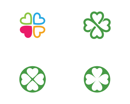 Green Clover Leaf Logo Template Design Vector