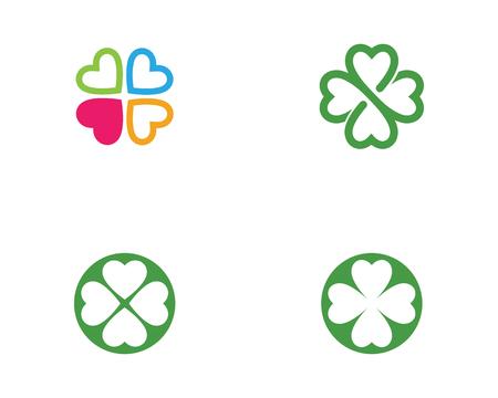 Green Clover Leaf Logo Template Design Vector