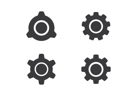 Gear Logo Template vector icon illustration design Stock Illustratie