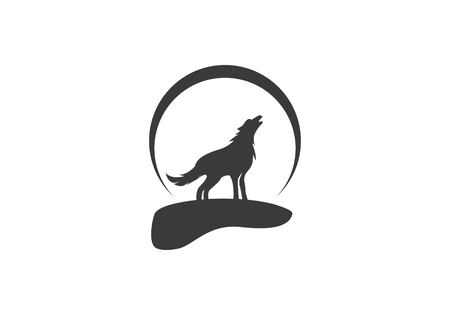 wolf logo template vector icon illustration design royalty free