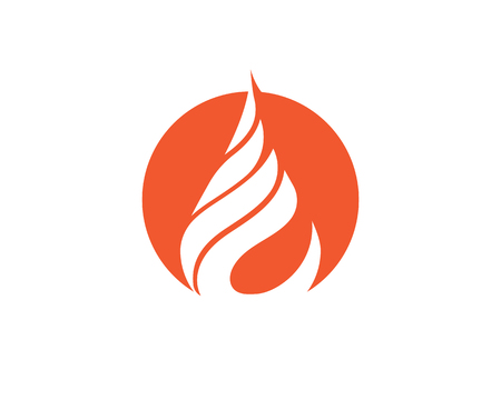 Fire flame icon Template  illustration design