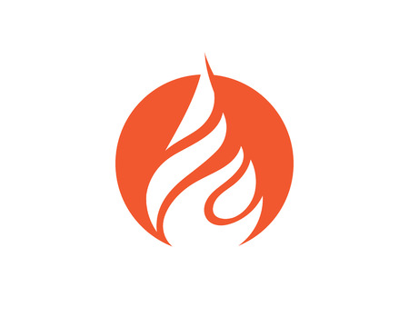 Fire flame   Template  illustration design