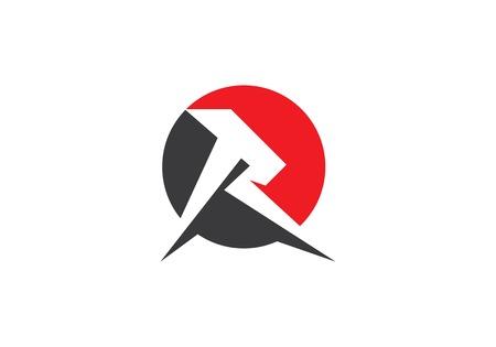R Letter lightning  icon template illustration design Banque d'images - 104496057