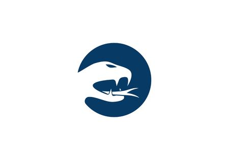 Snake logo vector icon template Illustration