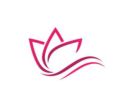 Beauty Vector lotus flowers design logo Template icon Иллюстрация
