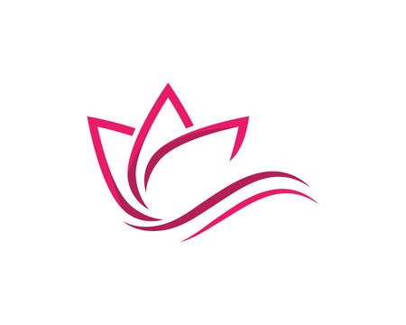 Logo de conception de fleurs de lotus de vecteur de beauté
