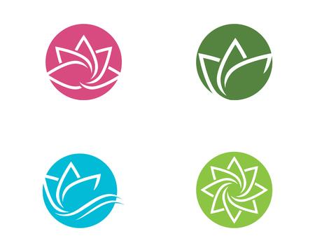 Belleza Vector flores de loto diseño logotipo plantilla icono