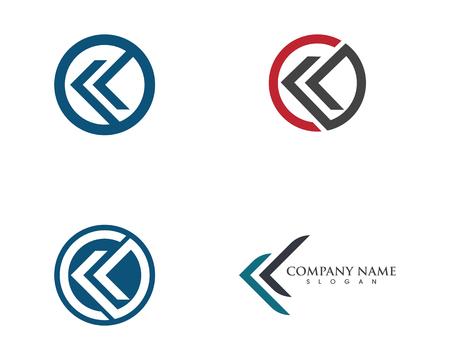 K Letter Arrow vector illustration icon Logo Template design