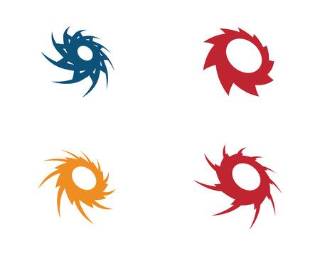 Icono de ilustración de vector de vórtice Diseño de plantilla de logotipo