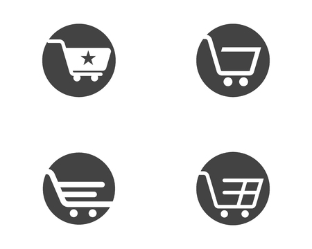 Shop, store basket vector icon Template illustration design