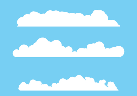 Cloud template vector icon illustration design background Illusztráció