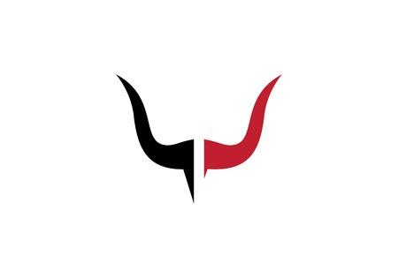 Bull Logo Template vector icon illustration Ilustrace