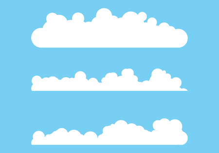 Cloud template vector icon illustration design background 向量圖像