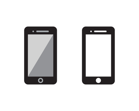 Hand Phone icon Template vector illustration design