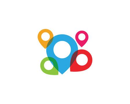 Location point icon logo vector illustration design