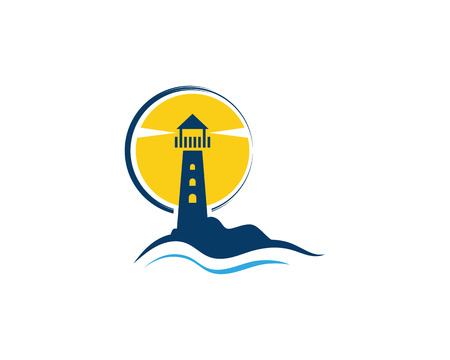 Light House Logo Template icon vector illustration