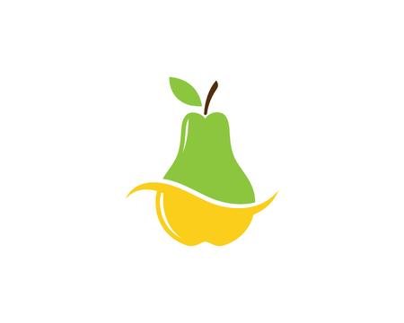 fresh Pear Fruit Food Vector Illustration design