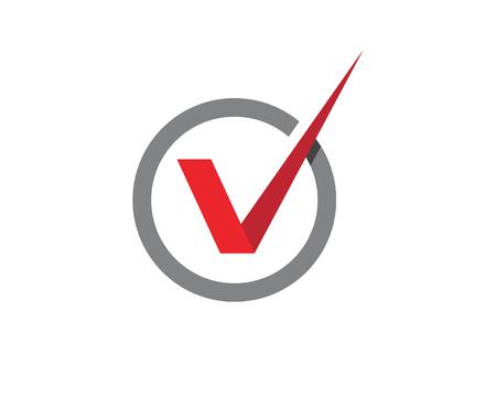 V Lettre Logo Template vecteur icône illustration Logo
