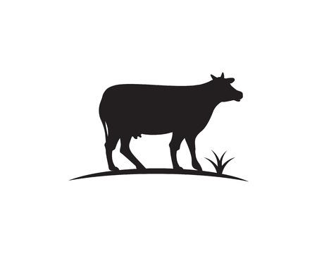 Cow Logo Template vector icon illustration design
