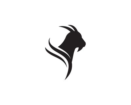 Ziegenlogo-Schablonenvektorikonenillustrationsentwurf Logo