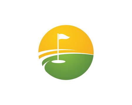 Golf Logo Template vector illustration design d'icône