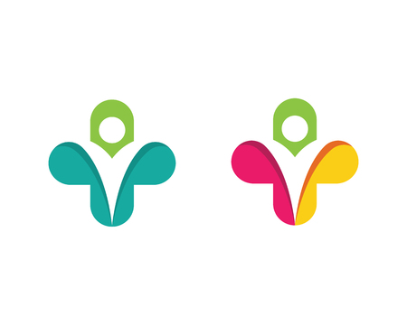 Diseño de ilustración de vector de plantilla de logotipo médico de salud