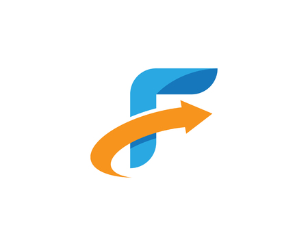F Letter Logo Template vector icon illustration design