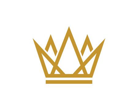 Crown Logo Template vector icon illustration design Banco de Imagens - 106215480