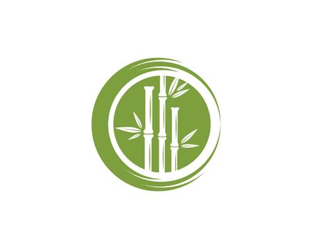 Bambus Logo Szablon wektor ikona ilustracja projekt Logo